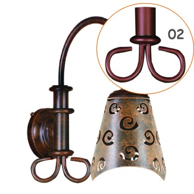 Lampe applique, modele de tourneso. AP312
