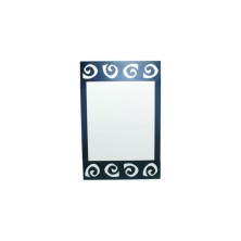 Spiral design Mirror for Bathroom 50cm