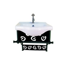 English vintage Bathroom Sink With Cabinet