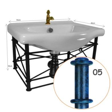 Forged iron Vanity Sink Unit