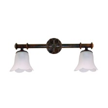 Very old Wall Lamps tulip waves
