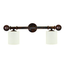Forged iron Wall Lamps tulip opal
