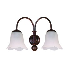 Forged iron Wall Light Fixture tulip waves