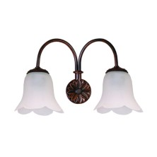 Country Wall Light Fixture tulip waves