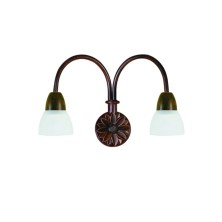 Country Wall Light Fixture tulip crystal