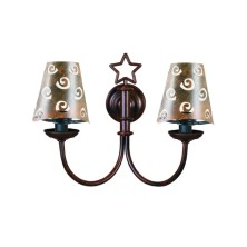 Star-shaped Wall Light Fixture half screen