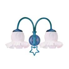 Star-shaped Wall Light Fixture tulip flower