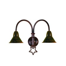 Star-shaped Wall Light Fixture small tulip