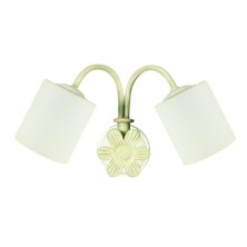 English vintage Over Mirror Light tulip opal
